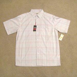 HAGGAR Mens NEW Short Sleeve Button Down Shirt